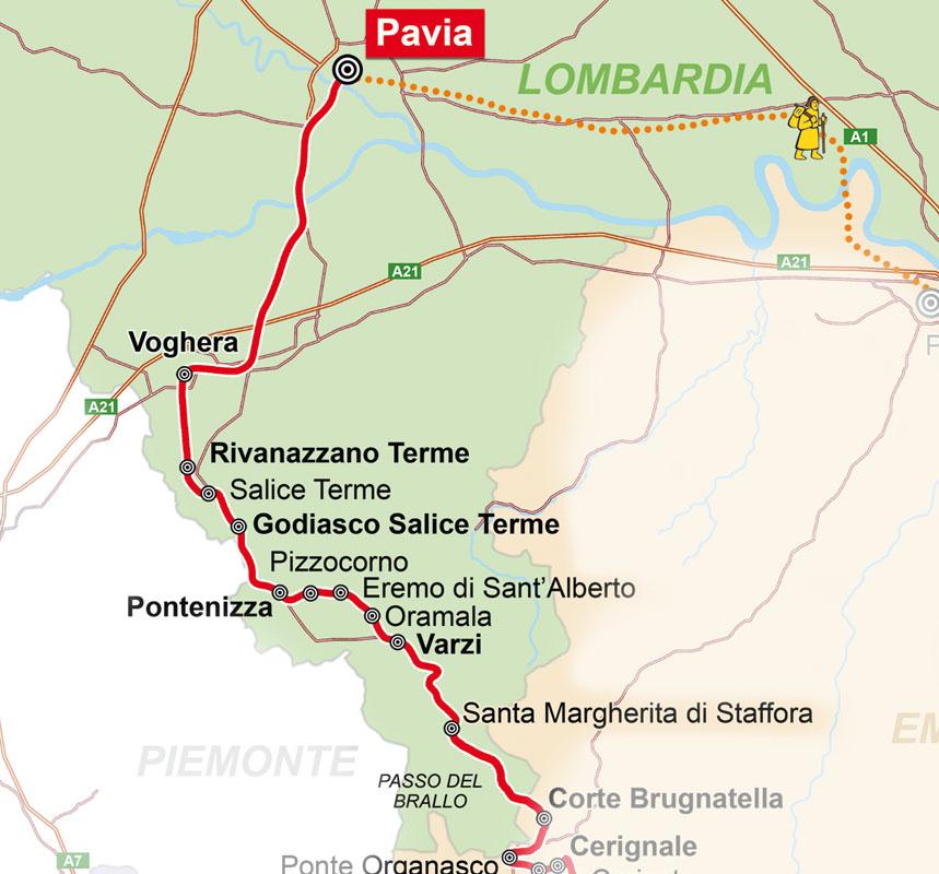 Cartina Lombardia Pavia.Via Marchesana Lombardia
